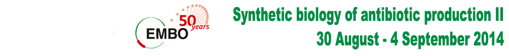 Synthetic biology of antibiotic production II, 30 August – 4 September 2014
